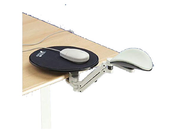 Support ErgoRest White Long & Mouse Plate (White)