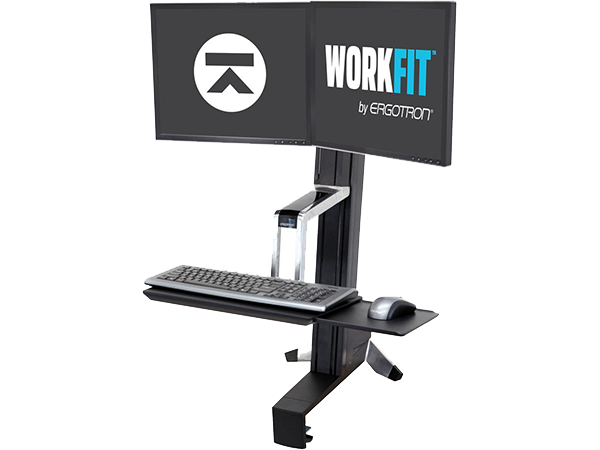 WorkFit-S, Sit-Stand Dual LCD