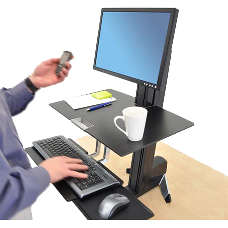 Sit-Stand System, Keyboard-Monitor-Work Surface, WorkFit-S
